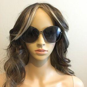 Tom Ford Gunmetal Leila Sunglasses